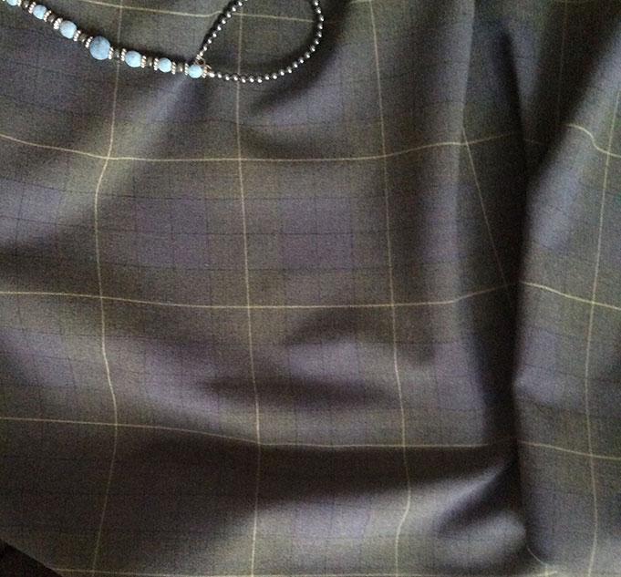 Tissu polyester laine gris
