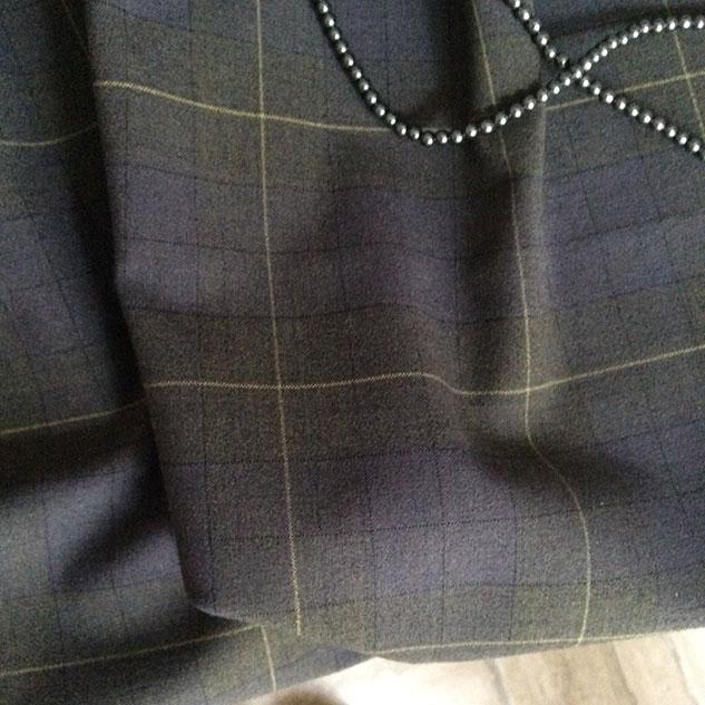 tissu a carreau gris