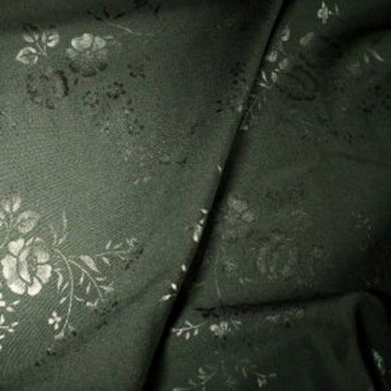 Tissu polyester laine impression florale