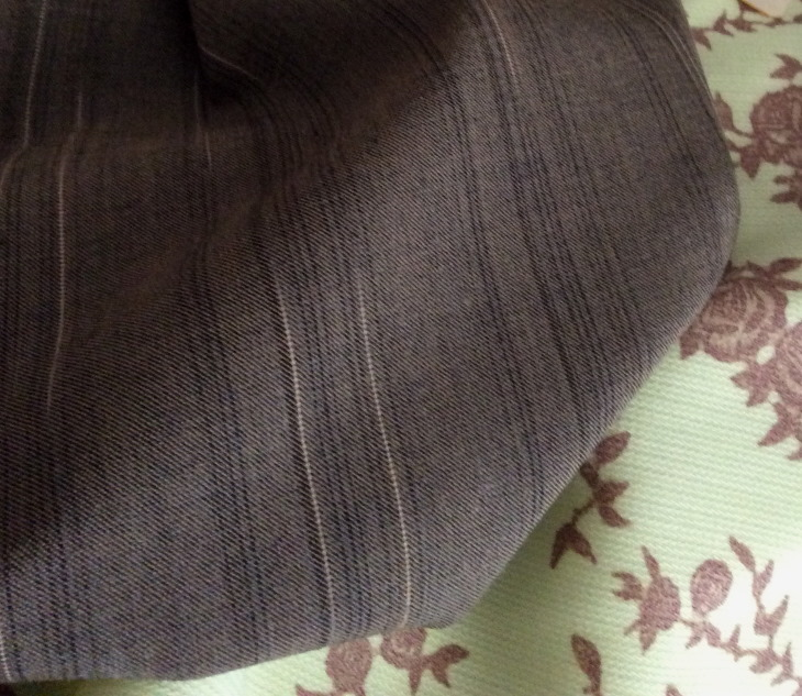 tissu marron bronze