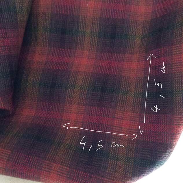 tissu carreau tissu polyester