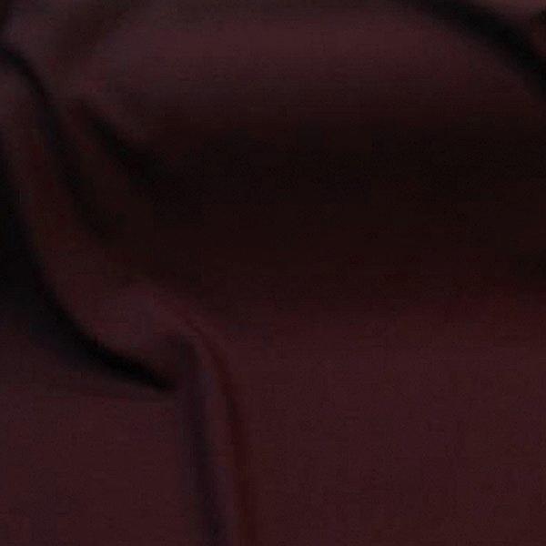 Tissu au metre polyester laine uni bordeaux extensible