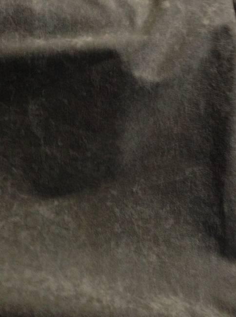 Tissu polyester M1 marron effet peau de pêche