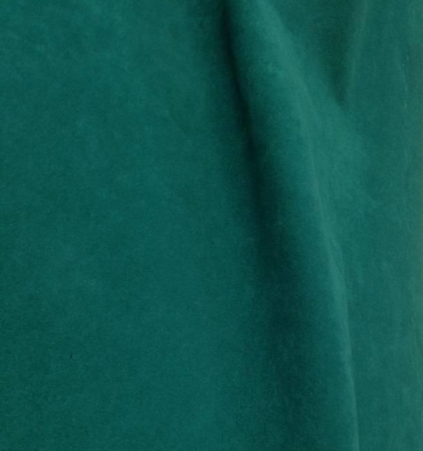 Tissu polyester M1 vert effet peau de pêche