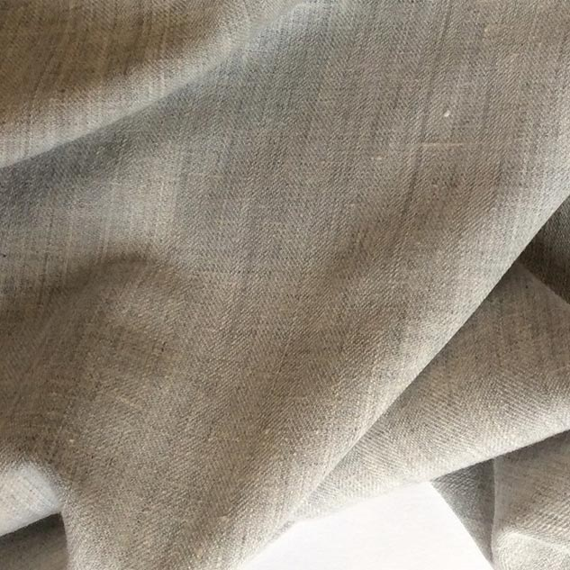 Tissu polyester viscose gris chiné