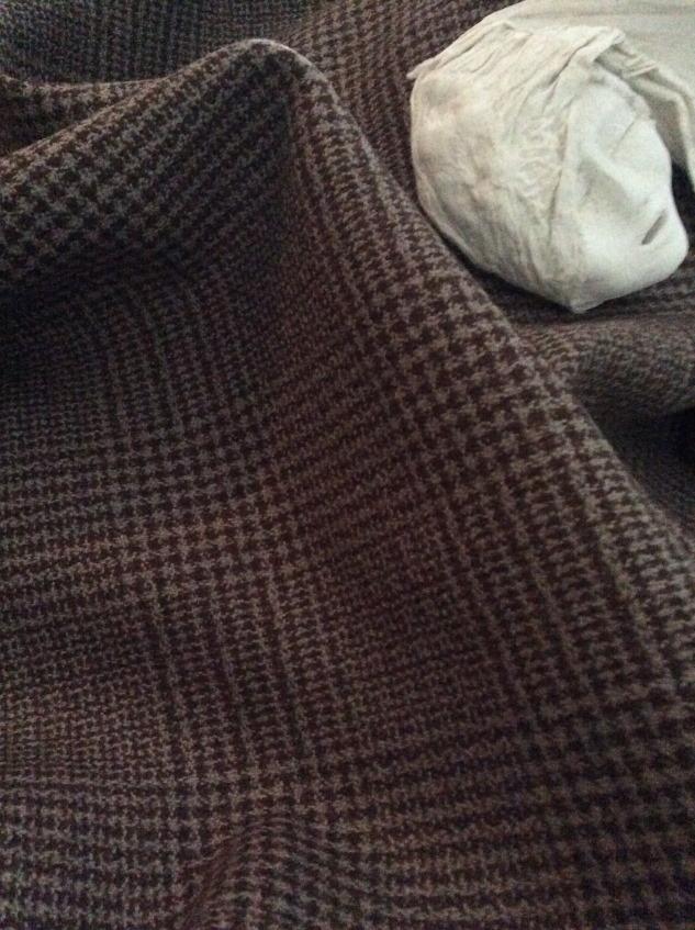 tissu prince de galle marron