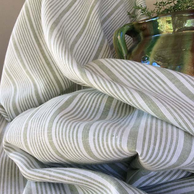 tissu à rayures tissu lin