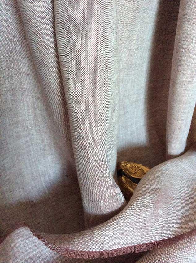 rideau en lin tissu chambray