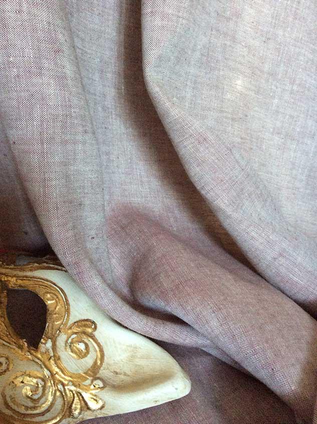 tissu chambray marron cacao