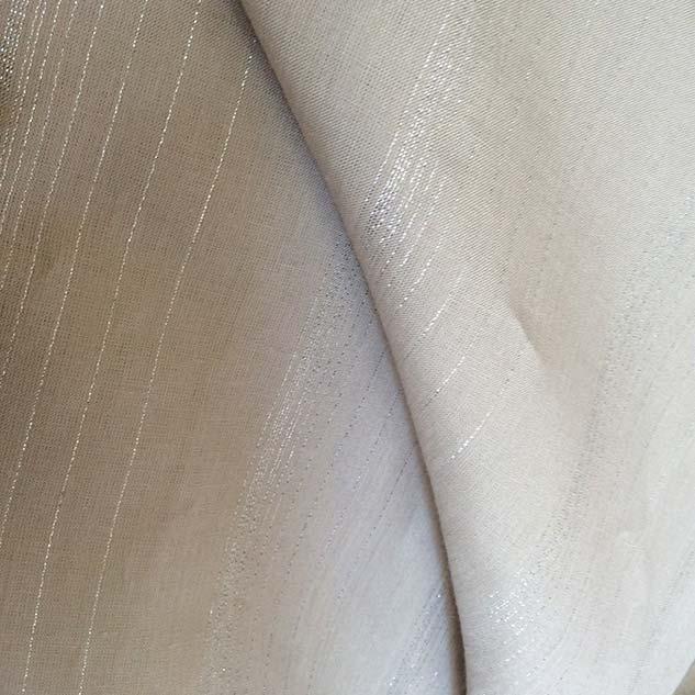 tissu brillant en lin beige