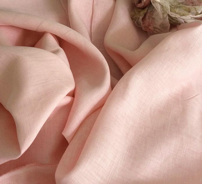 tissu voilage rose