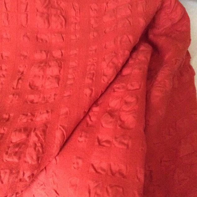 tissu cloqué capucine velours
