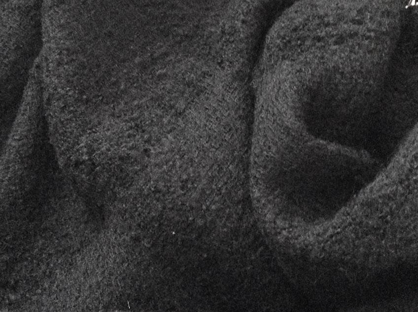 tweed noir pour ameublement