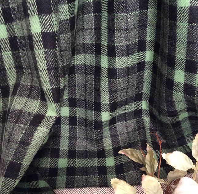 Tissu tartan bicolore