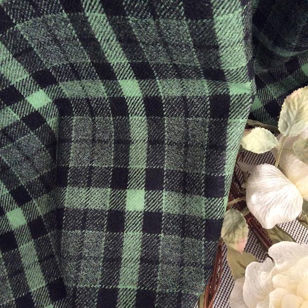 tissu vert et noir déco