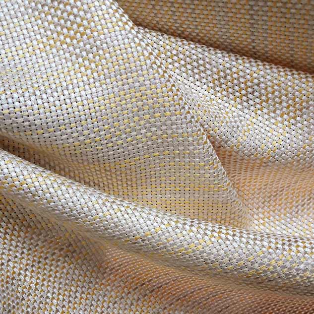 Tissu tweed rayures jaune