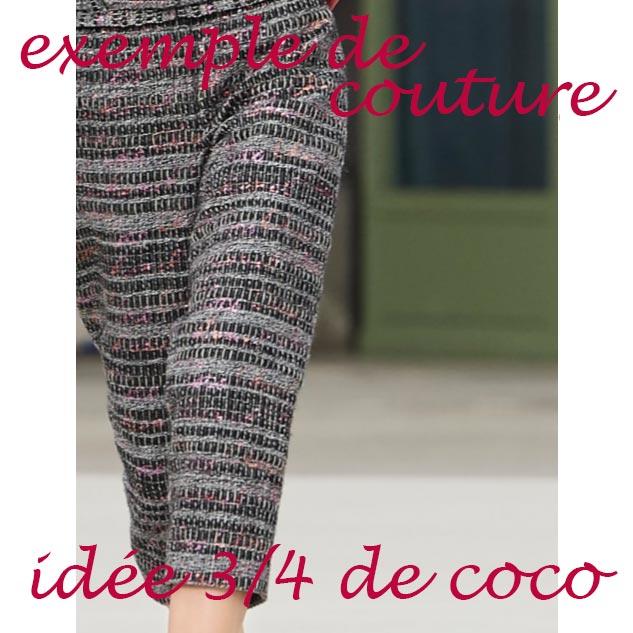 exemple de couture pantalon tweed