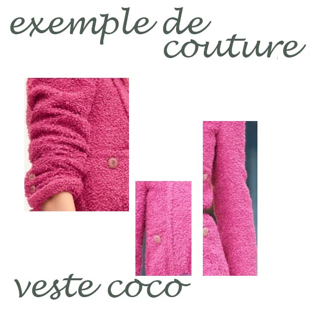 exemple de couture veste tweed bouclette