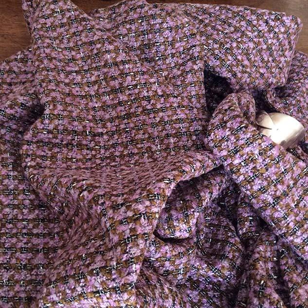 Tissu tweed carreau