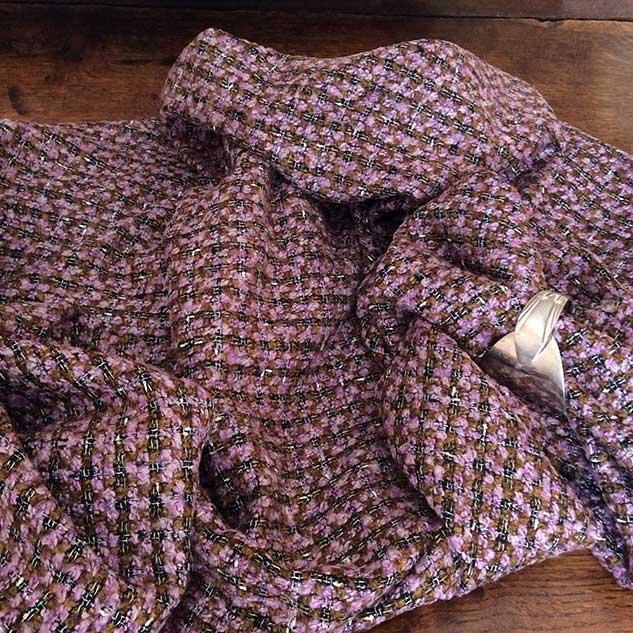 tweed carreau marron cardailhac