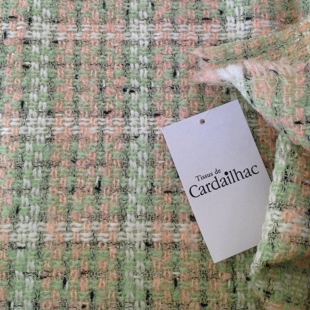 tissu carreaux multicolore tweed