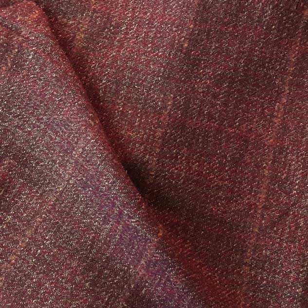 tweed bordeaux carreaux