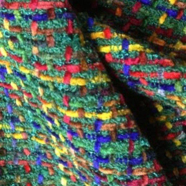 Tissu tweed de laine contemporain