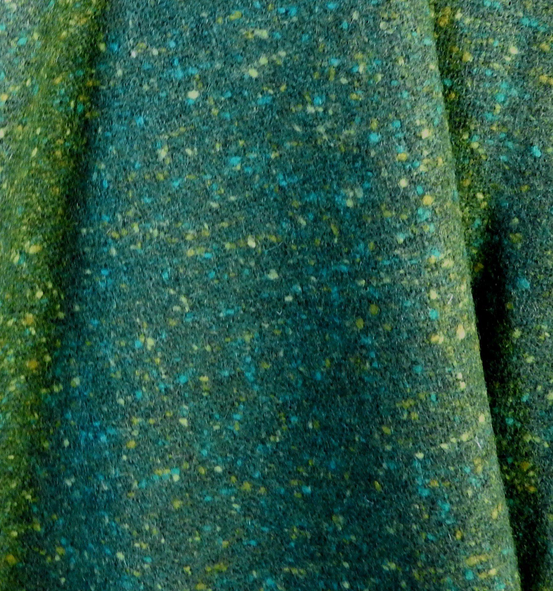 Drap de laine tweed vert [style anglais]