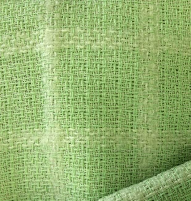 Rideau voilage tissu au metre laine vert anis