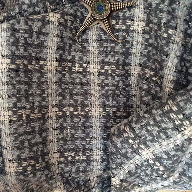 Tissu tweed esprit couture