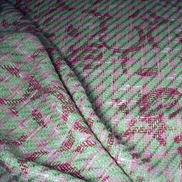 Tissu tweed imprimé arabesque