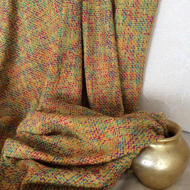 Tissu jaune multicolore