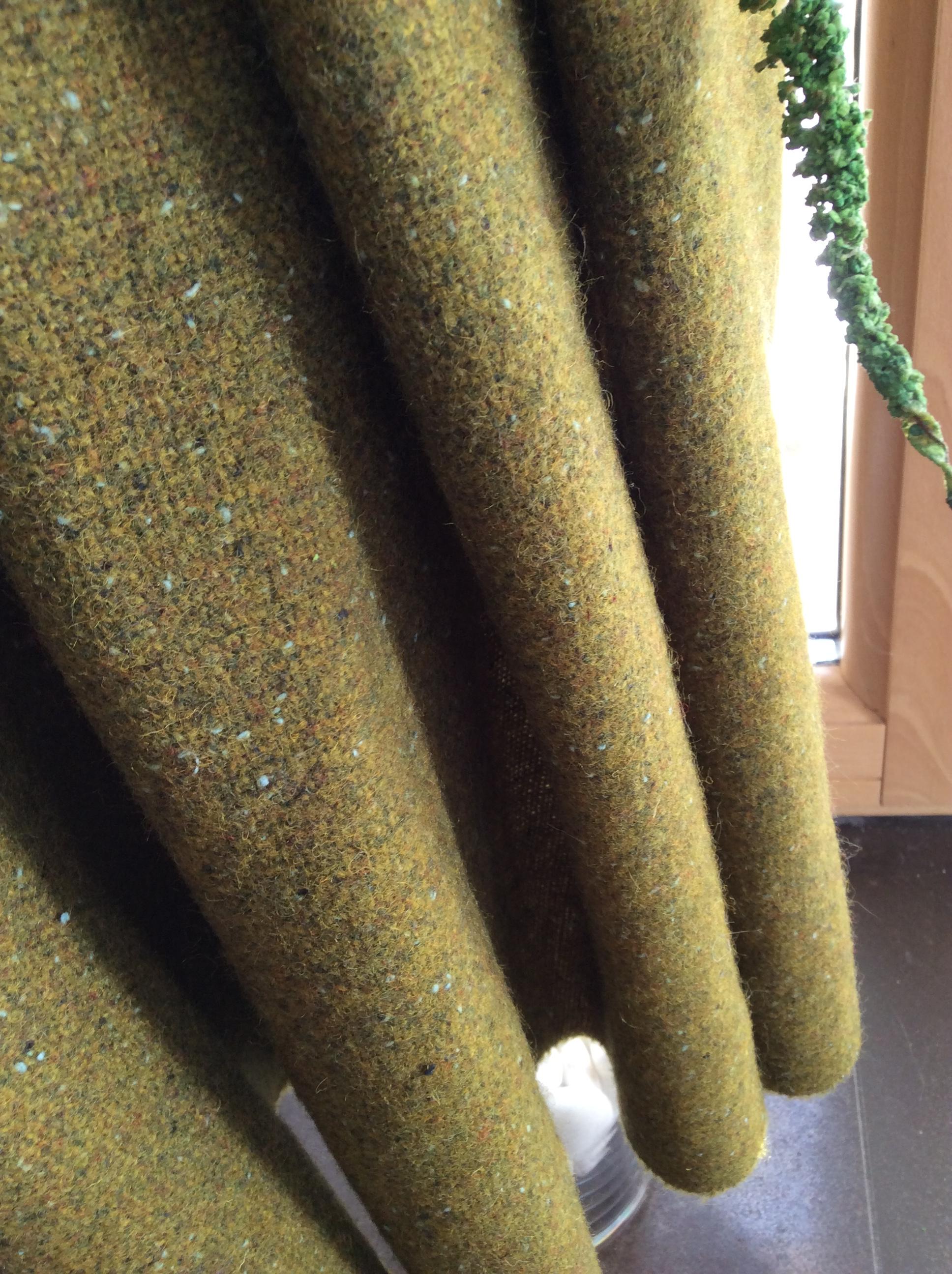 tissu tweed kaki effet chiné