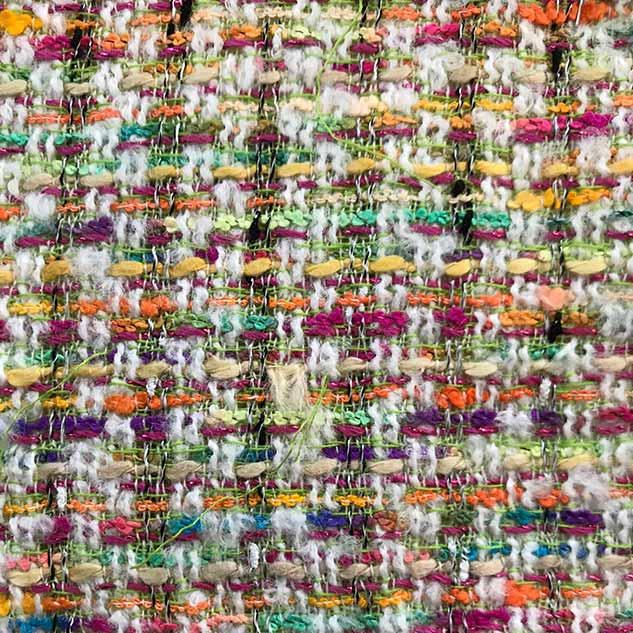 Tissu tweed multicolore vif