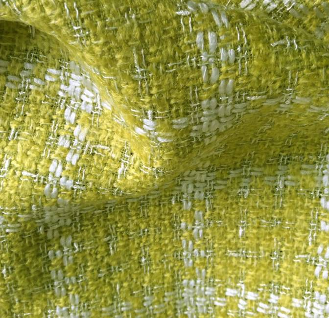 Tissu tweed vert anis