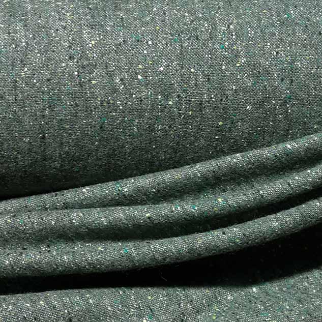 tissu tweed vert bronze effet chiné