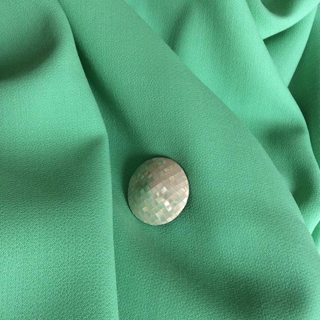 tissu crepe de laine vert menthe