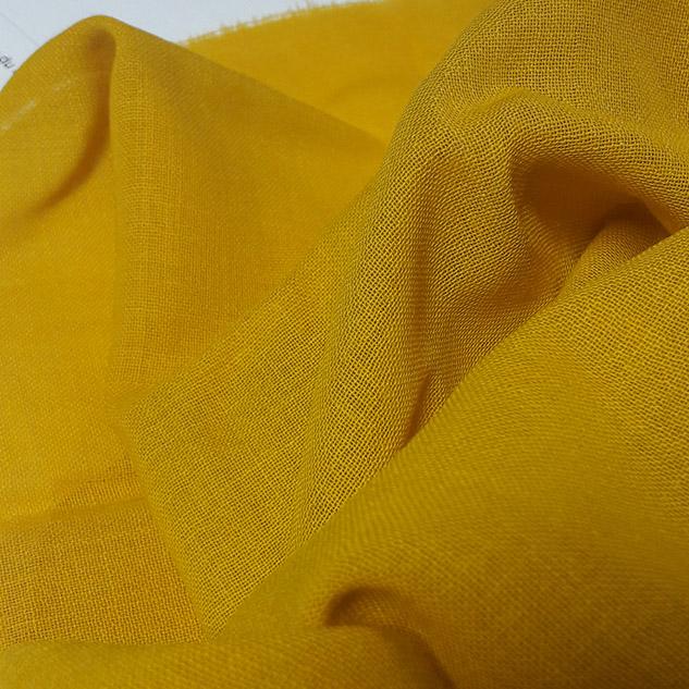 Tissu voilage jaune