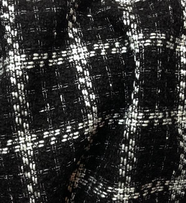 Tissu tweed noir