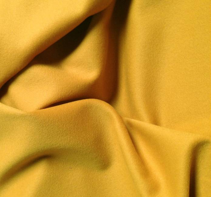 Tissu cachemire jaune