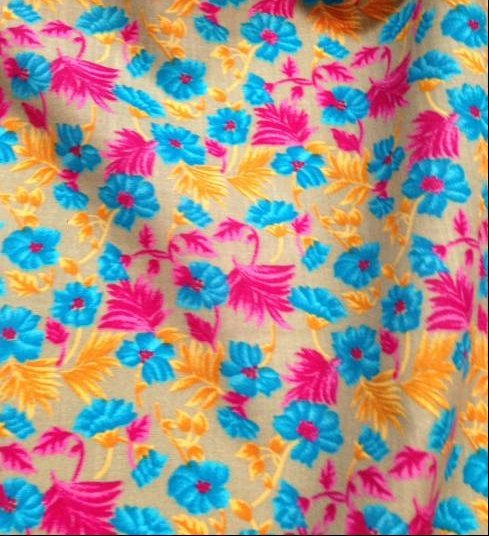 Tissu coton imprimé floral, chemisier, robe