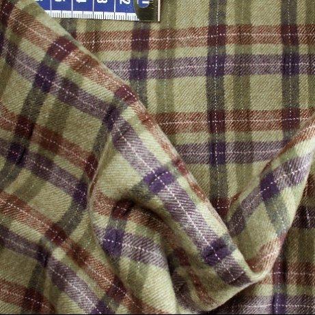 Tissu flanelle de laine écossais beige