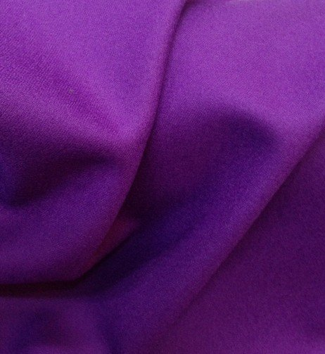 Tissu flanelle de laine peignée violet