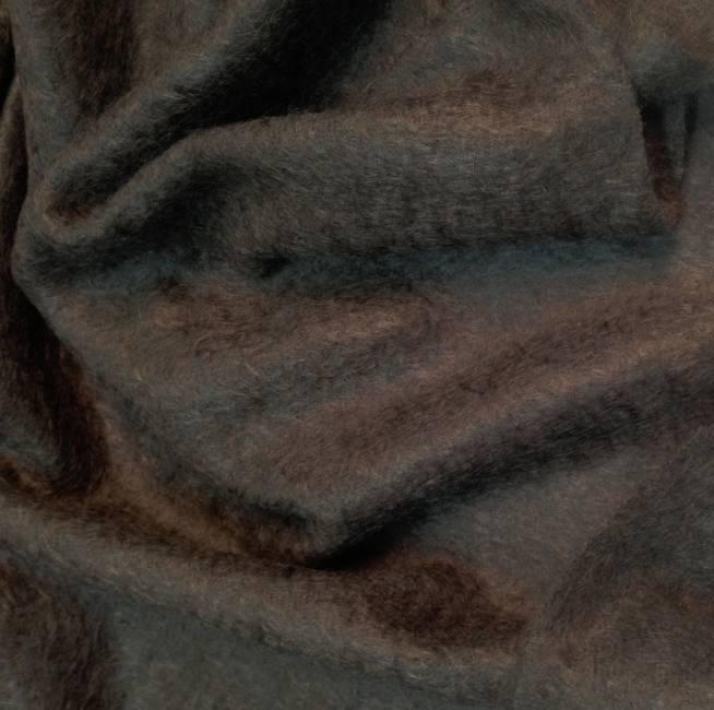 Tissu laine mohair marron