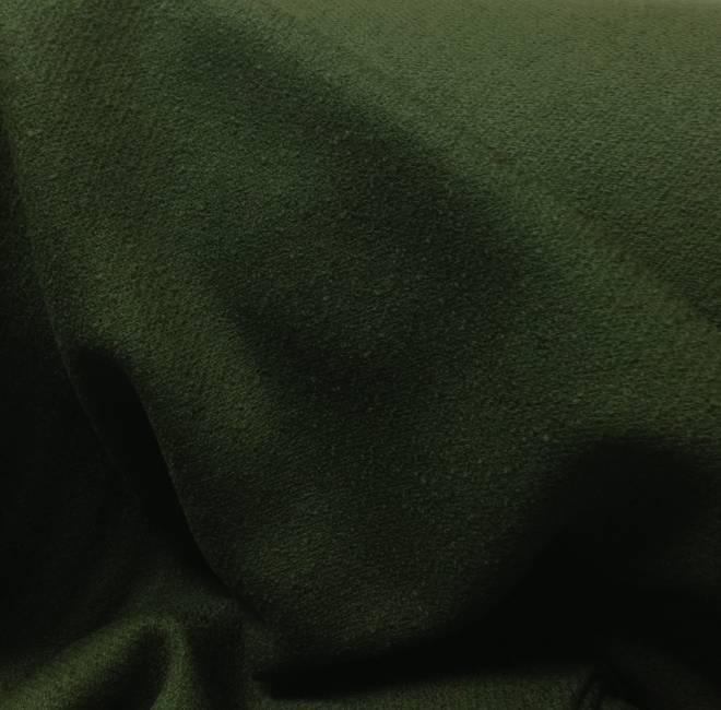 Tissu laine bouillie uni kaki