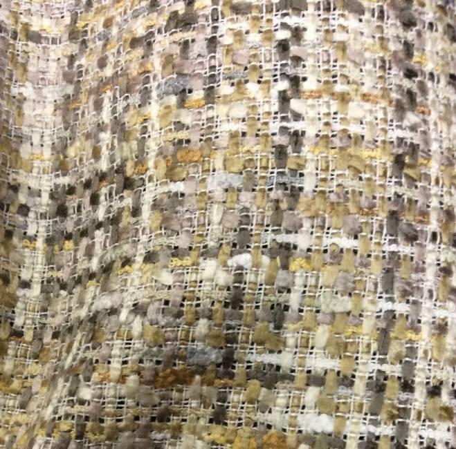 Tissu tweed beige