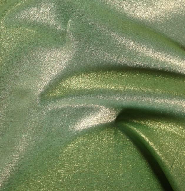 Rideaux lin brillant tissu au metre vert