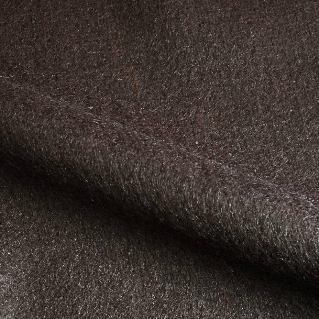 Drap de laine mohair brun
