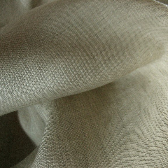 Tissu en lin beige effet chiné