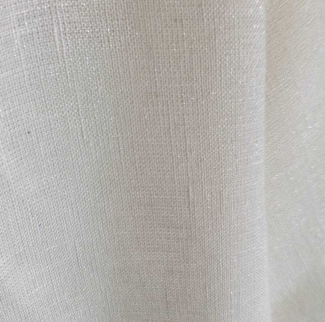 Tissu lin toile brillante écru